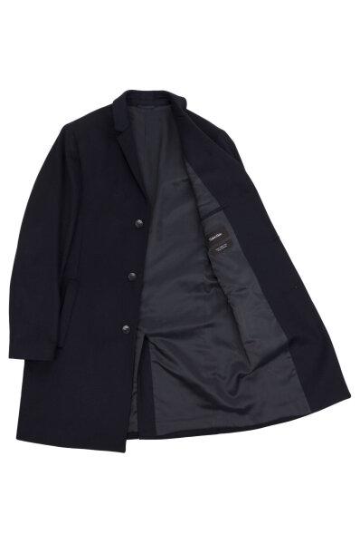 Vlněný kabát Carlo Calvin Klein tmavě modrá d4c16f27b4