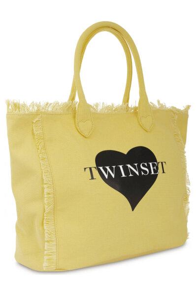 Kabelka shopper TwinSet U&B žlutá
