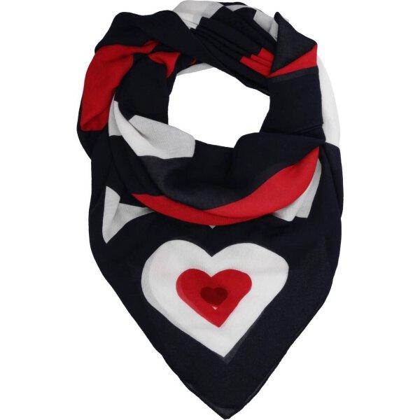 Šátek MASCOT HEART SQUARE Tommy Jeans   Tmavě modrá   Gomez.cz eb8d9853a6d