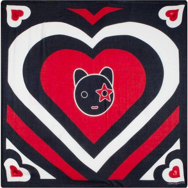 AW0AW06192  Šátek MASCOT HEART SQUARE Tommy Jeans tmavě modrá ... 68cdaf99ffd